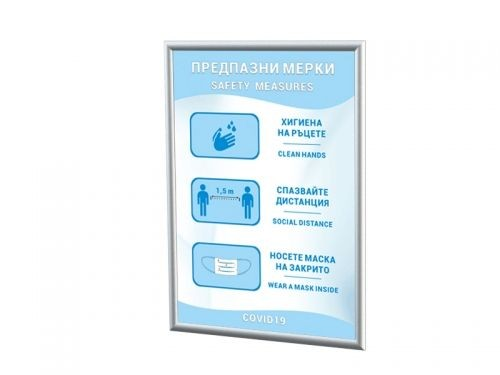 Information poster frame Covid-19
