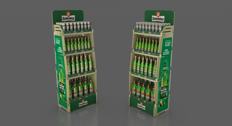 Модулен Дървен стелаж за бира, мултибрандс опции