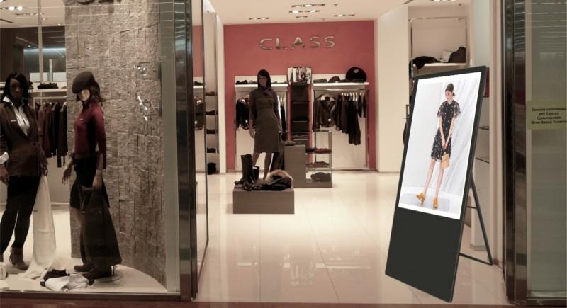 Вертикален рекламен екран на стойка